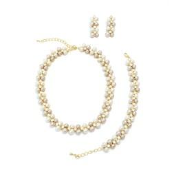 Perla in White n Creamrose Set